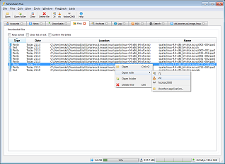 Screenshot of tool integration and file view